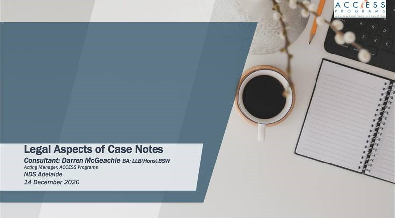 Case Notes A legal perspective
