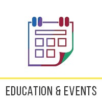 NDP icons Education and Events
