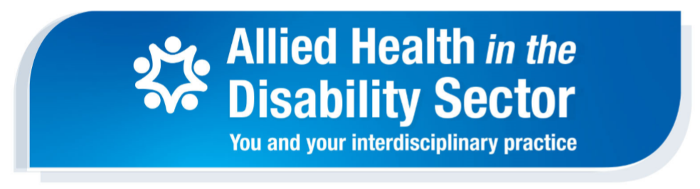 Allied Health in the Disability Sector banner