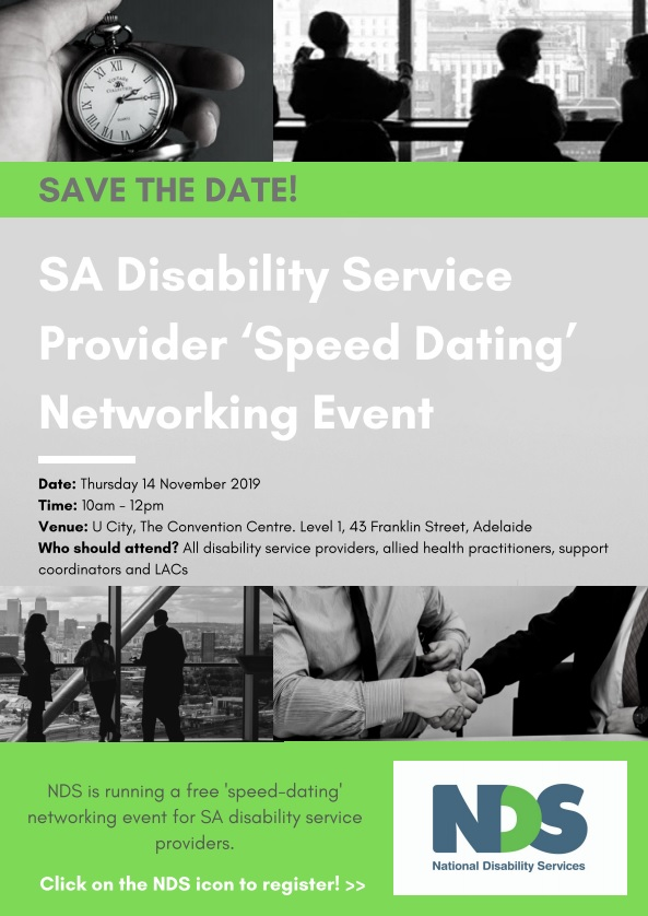 SA Disability Service Provider Networking Event Flyer