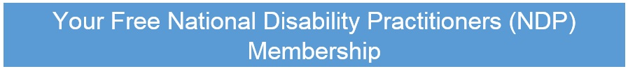 Your Free National Disability Practitioners NDP Membership
